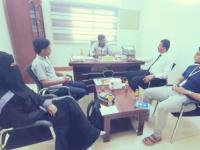 مناقشة سبل التعاون المشترك بين نقابة المهندسين اليمنيين فرع حضرموت ومؤسسة صناع أمل حضرموت للتنمية