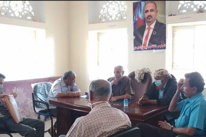 انتقالي الضالع يناقش مع لجنة الطوارئ سُبل مجابهة كورونا