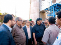 President Al-Zubaidi inspects a number of service facilities in Aden the capital